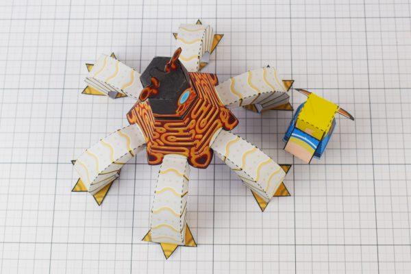 PTI Zelda Breath of the Wild LinkGuardian Paper Toy Image - Top
