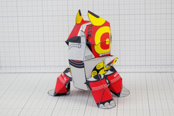 PTI Patreon Supporter Advanced Collectoid Paper Toy Image Back
