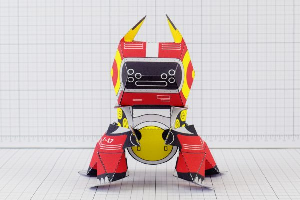 PTI Patreon Supporter Advanced Collectoid Paper Toy Image Front A
