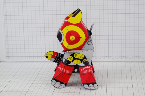 PTI Patreon Supporter Advanced Collectoid Paper Toy Image Side