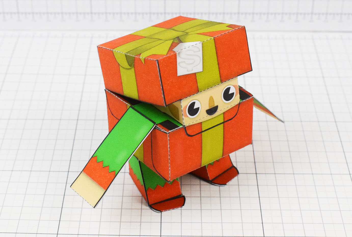 PTI Christmas Paper Toy Craft Decoration CuteBox Elf Image - Main