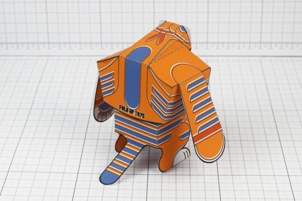 PTI Papa Tony the Tiger Fan Art Paper Toy Top Image - Back