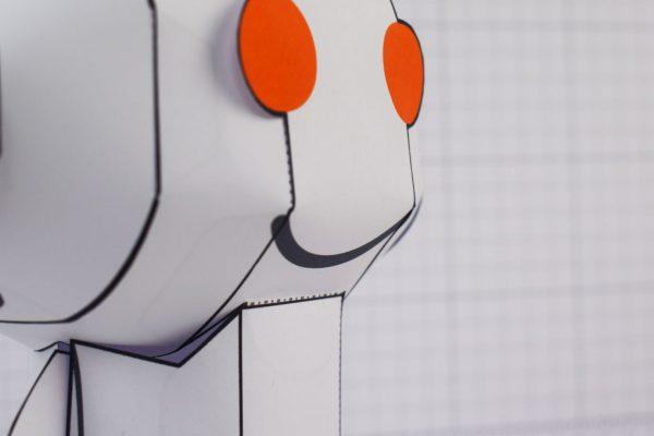 PTI Reddit Snoo Mascot Paper Craft Toy Image - Face