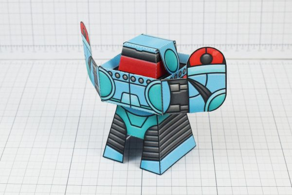 PTI Rumbolt Retro Robot Paper Toy Image - Back