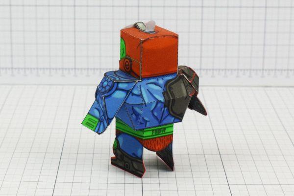 PTI Trap Jaw Eternians He-Man MOTU Paper Toy Craft Image - Back