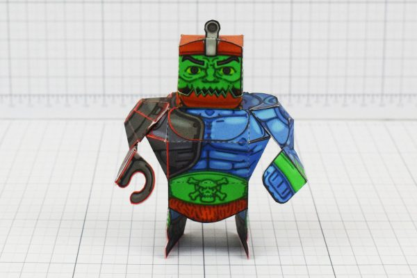 PTI Trap Jaw Eternians He-Man MOTU Paper Toy Craft Image - Front