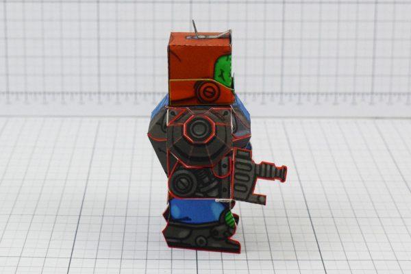PTI Trap Jaw Eternians He-Man MOTU Paper Toy Craft Image - Side