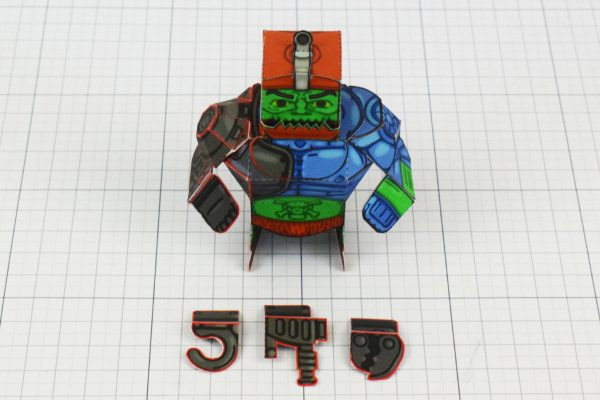 PTI Trap Jaw Eternians He-Man MOTU Paper Toy Craft Image - Weapons