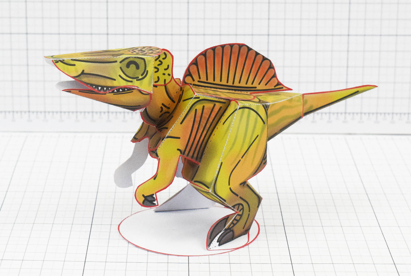 Twinkl dinosaur Spinosaurus paper toy craft model educational printable graphic design Alex Gwynne