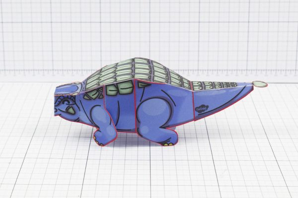 Twinkl dinosaur Ankylosaurus paper toy craft model educational printable graphic design Alex Gwynne