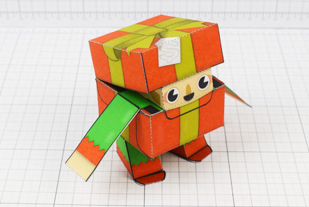 THU Christmas Paper Toy Craft Decoration CuteBox Elf Image - Thumbnail