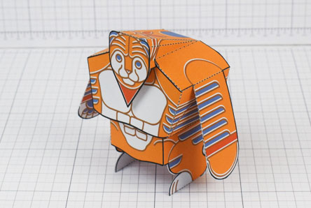 THU Papa Tony the Tiger Fan Art Paper Toy Top Image - Thumbnail