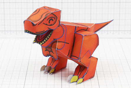 Twinkl dinosaur Tyrannosaurus paper toy craft model educational printable graphic design Alex Gwynne