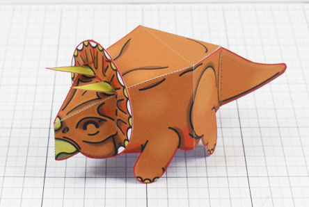 Twinkl dinosaur triceratops paper toy craft model educational printable graphic design Alex Gwynne