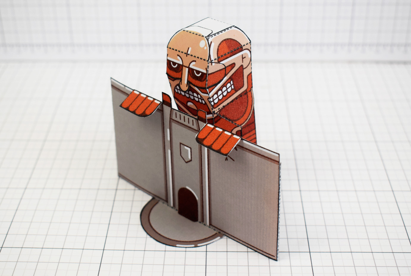 PTI - Colossal Titan - Attach On Titan Paper Toy Craft Model Image - Main 2