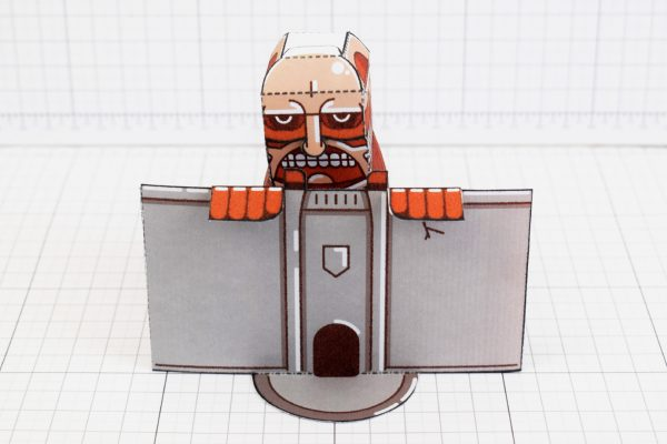 PTI - Colossal Titan - Attach On Titan Paper Toy Craft Model Image - Main