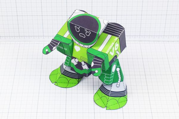PTI February Patreon paper craft robot stalker v6 image - top