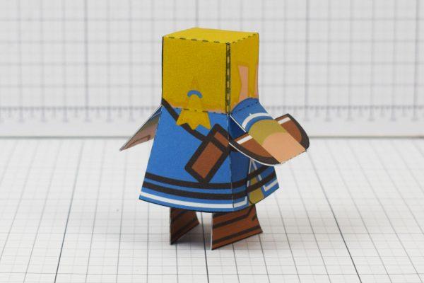 PTI Link paper toy fan art image - back