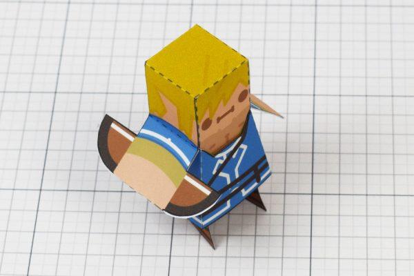 PTI Link paper toy fan art image - top