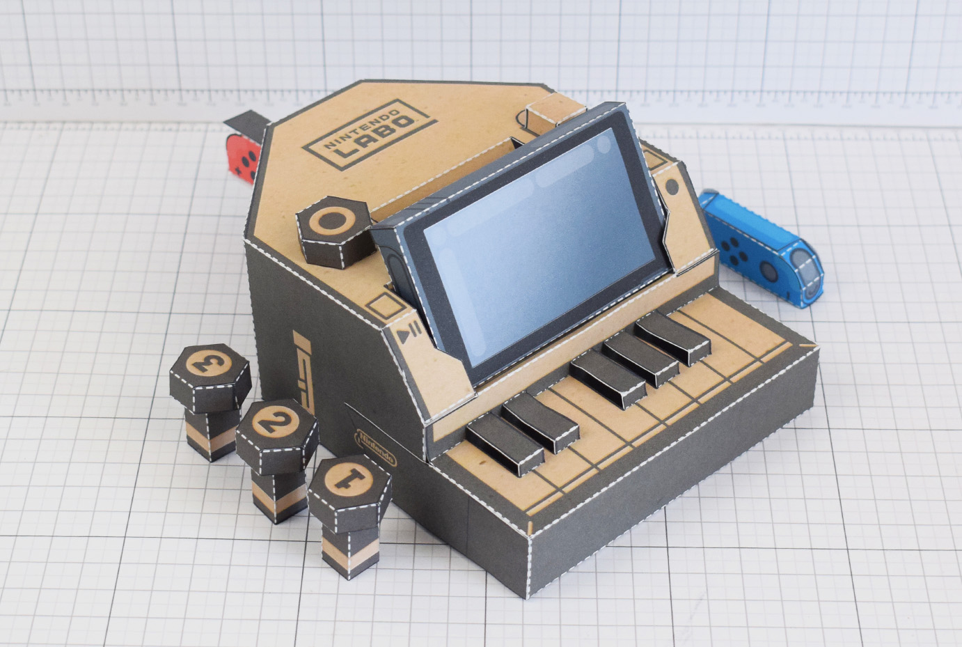 Nintendo switch labo fan art concept printable download paper toy model craft miniture graphic design illustration by Alex Gwynne for hire