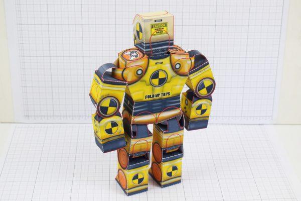 PTI Crash Test Dummy Paper Toy Model Image - Stood Back