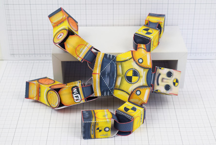 THU Crash Test Dummy Paper Toy Model Image - Thumbnail
