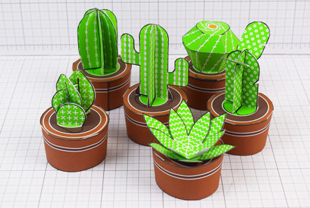 THU - ENKL Cactus Collection Paper Toy Image Twinkl - Thumbnail