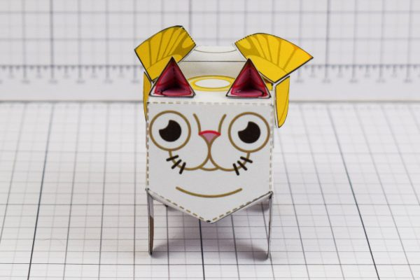 PTI- Flying Cat Paper Toy Image - Front