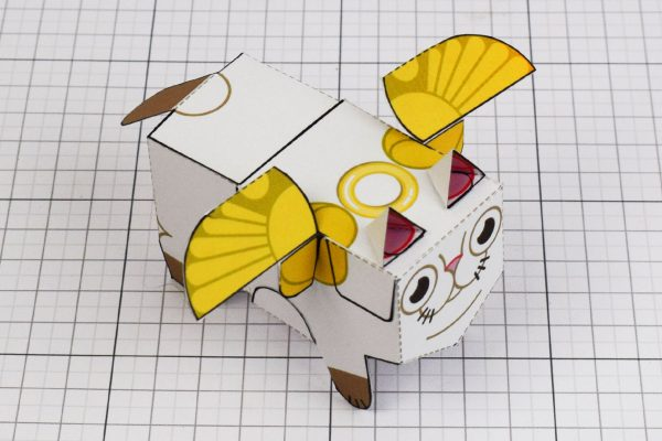 PTI- Flying Cat Paper Toy Image - Wings