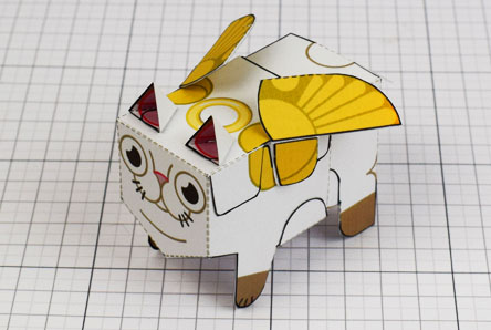 THU- Flying Cat Paper Toy Image - Thumbnail