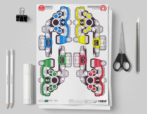 MU Patreon 2018 Microbots Paper Toy Photo - Mockup