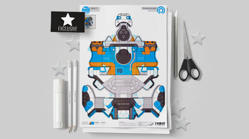 MU Patreon March - Utilitrap Paper Toy Photo - Mockup PLUS