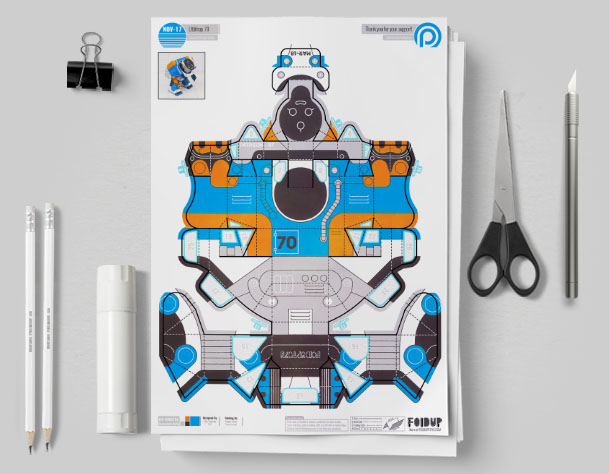 MU Patreon March - Utilitrap Paper Toy Photo - Mockup