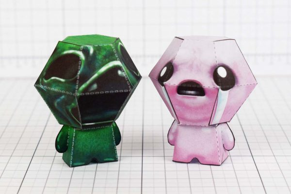 PTI- Binding of Isaac Paper Toy - Sloth Image - With Isaac