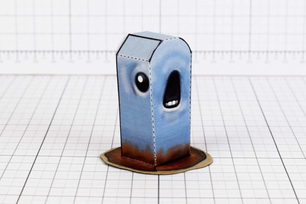 PTI - Monstro - Binding of Isaac - Paper Toy Image - Worm