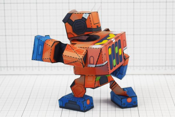 PTI - Nintendo Labo Robot Paper Toy Craft Image - B Back Punch