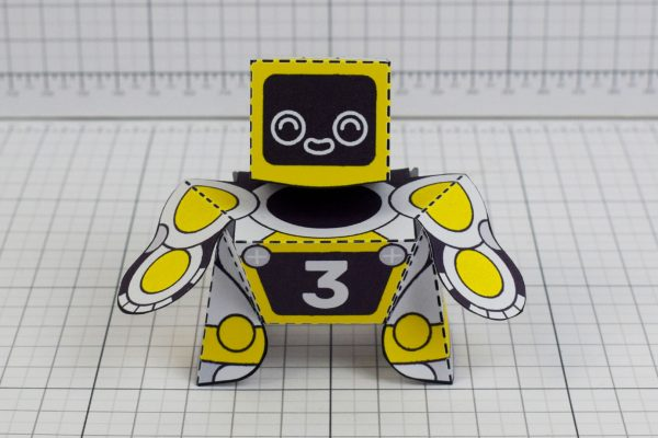 PTI Patreon 2018 Microbots Paper Toy Photo - Front