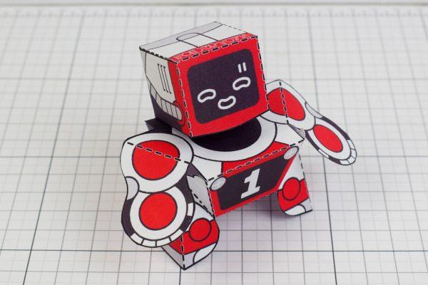 PTI Patreon 2018 Microbots Paper Toy Photo - Top x