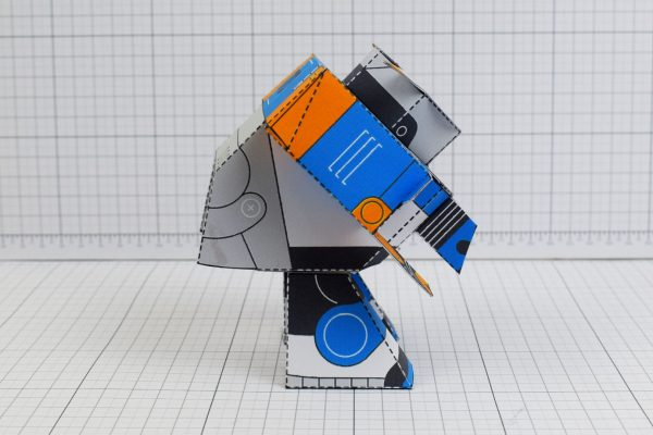 PTI Patreon March - Utilitrap Paper Toy Photo - Side