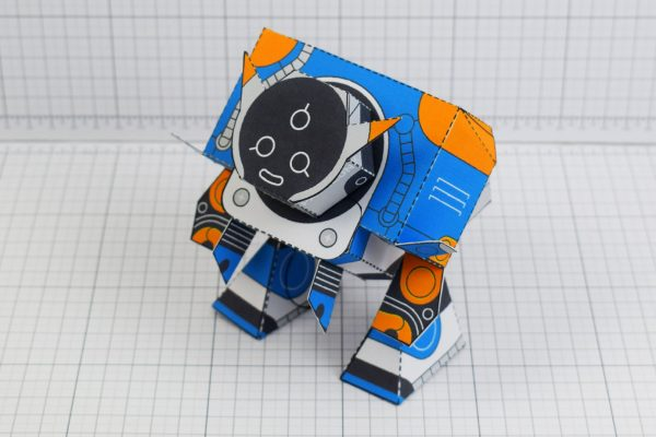 PTI Patreon March - Utilitrap Paper Toy Photo - Top