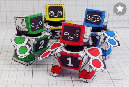 THU Patreon 2018 Microbots Paper Toy Photo - Thumbnail PLUS