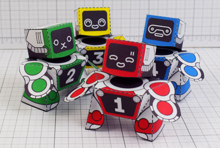 THU Patreon 2018 Microbots Paper Toy Photo - Thumbnail