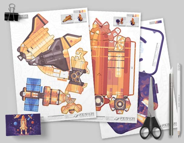 MU - Space Shuttle paper Toy Craft Image - Mock Up