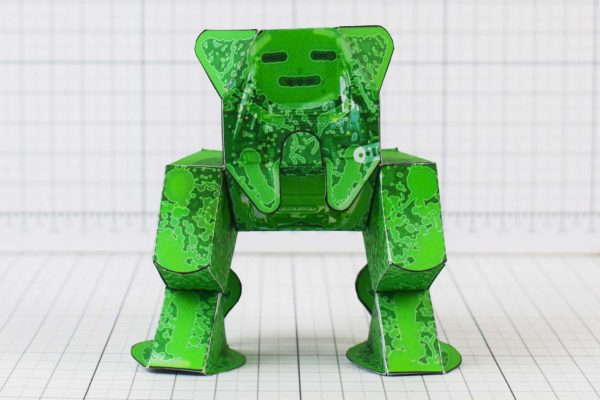 PTI - Computer Germ Paper Toy Monster - Creative Market Image - Front