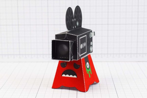 PTI - Media Monsters Camera Paper Toy Image - Front