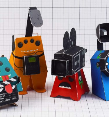 PTI - Media Monsters Group Photo Paper Toy Image - 1