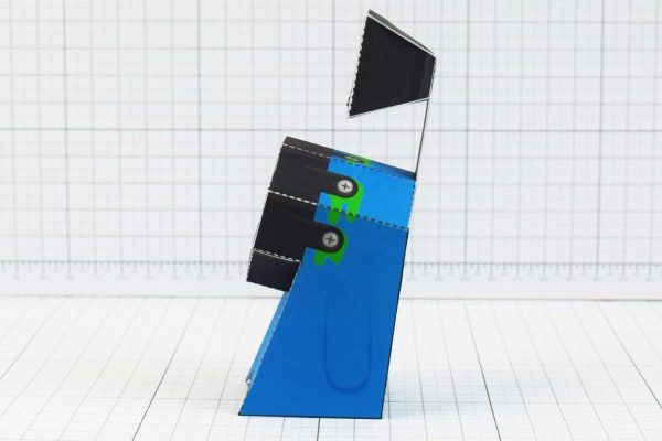 PTI - Media Monsters Lighting Paper Toy Image - Side