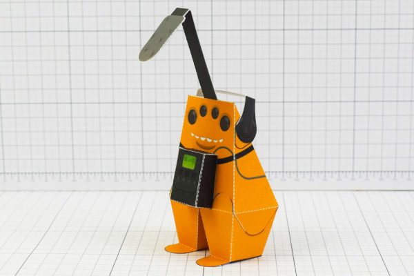 PTI - Media Monsters Microphone Paper Toy Image - Side