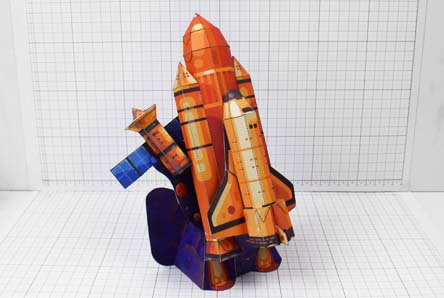 THU - Space Shuttle paper Toy Craft Image - Thumbnail
