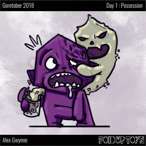 Alex Gwynne - Fold Up Toys - Goretober Day 1 Possession